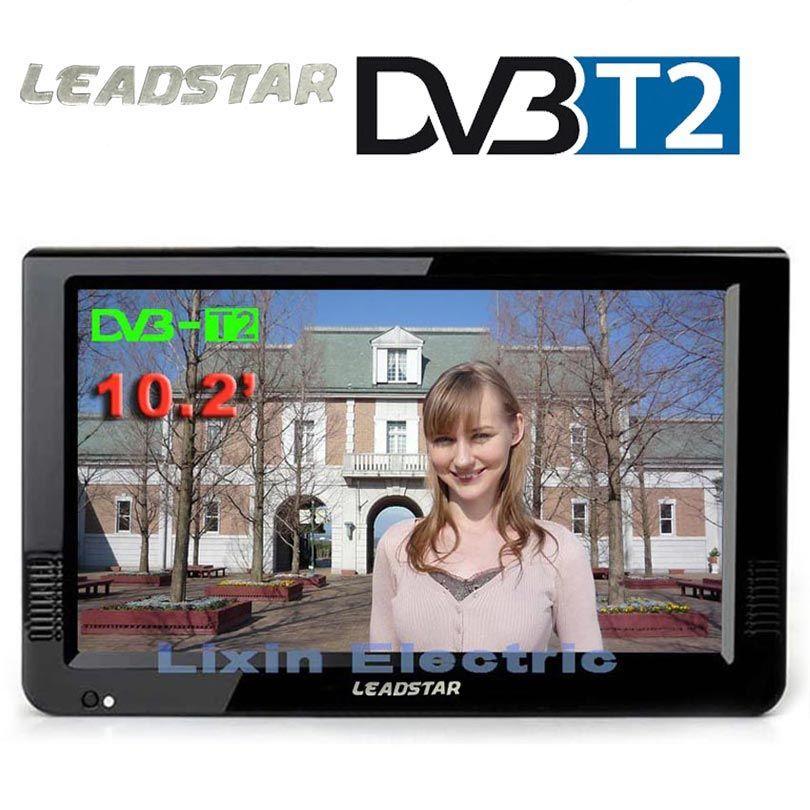 HD TV Portable 10 pouces numérique et analogique Led téléviseurs prise en charge carte TF USB Audio voiture télévision HDMI entrée DVB-T DVB-T2 AC3