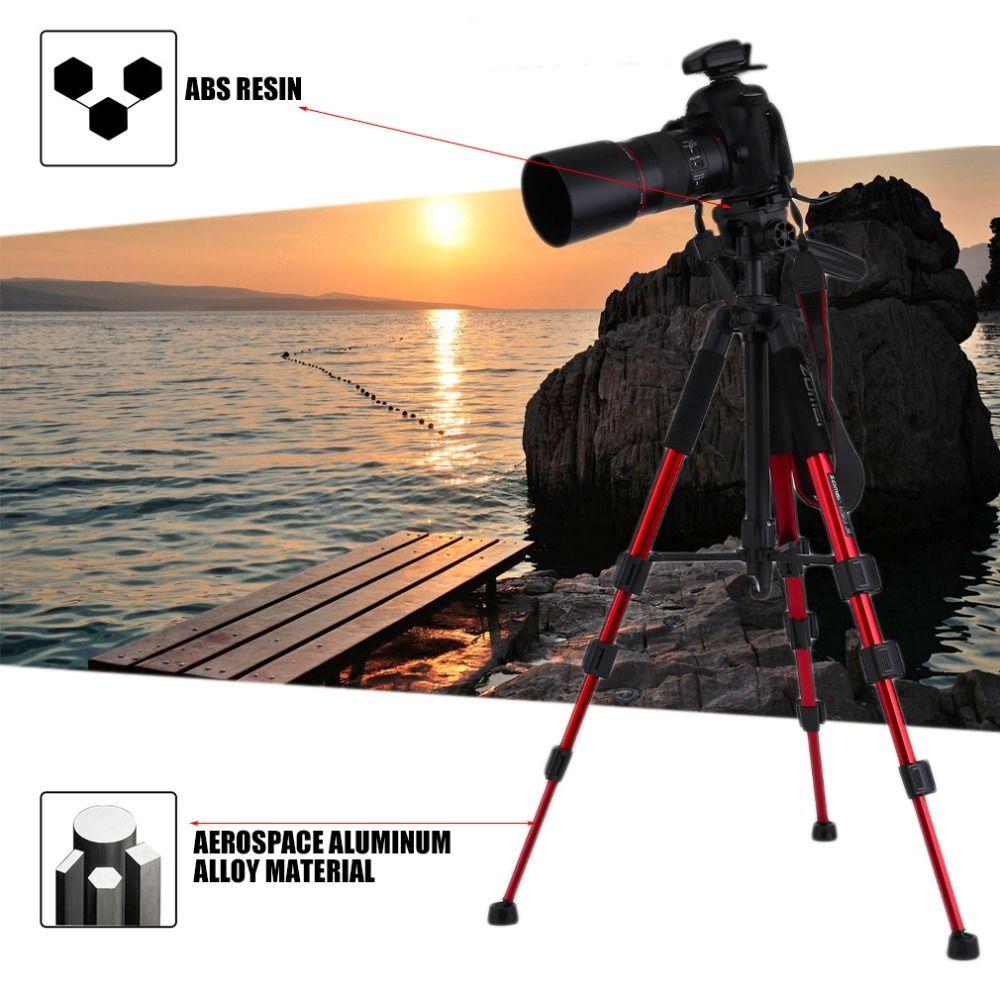 Zomei Professional Aluminium Camera Tripod Portable Travel Tripod Accessories Stand with Pan Head for SLR DSLR Digital Camera