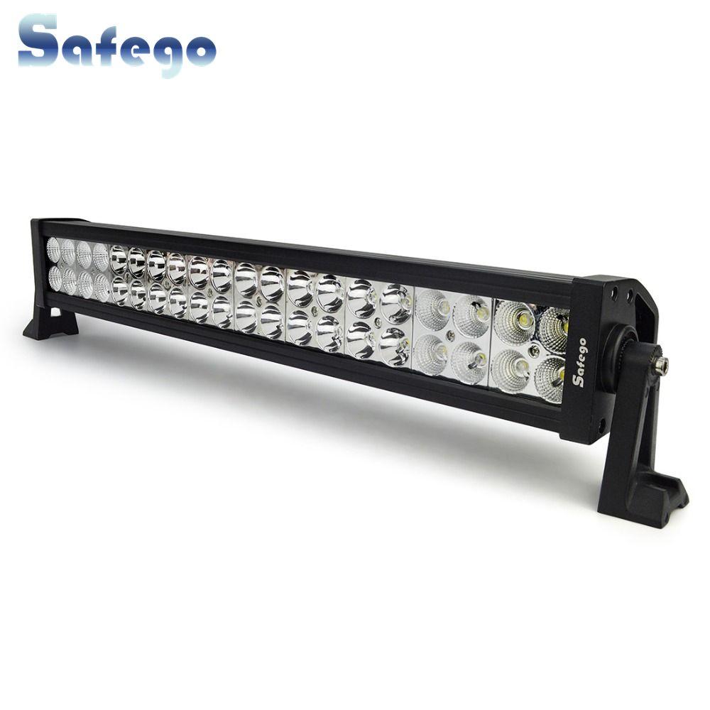 Safego 22 pouce LED bar offroad 120 w led light bar off road 4X4 brouillard Led feux de travail bar voiture camions tracteur ATV Spot Flood Combo