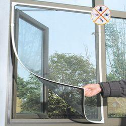 Fly Mosquito Fenêtre Mesh Net Écran Chambre Cortinas Rideaux de Moustiques Net Rideau Protecteur Moustiquaire Encart