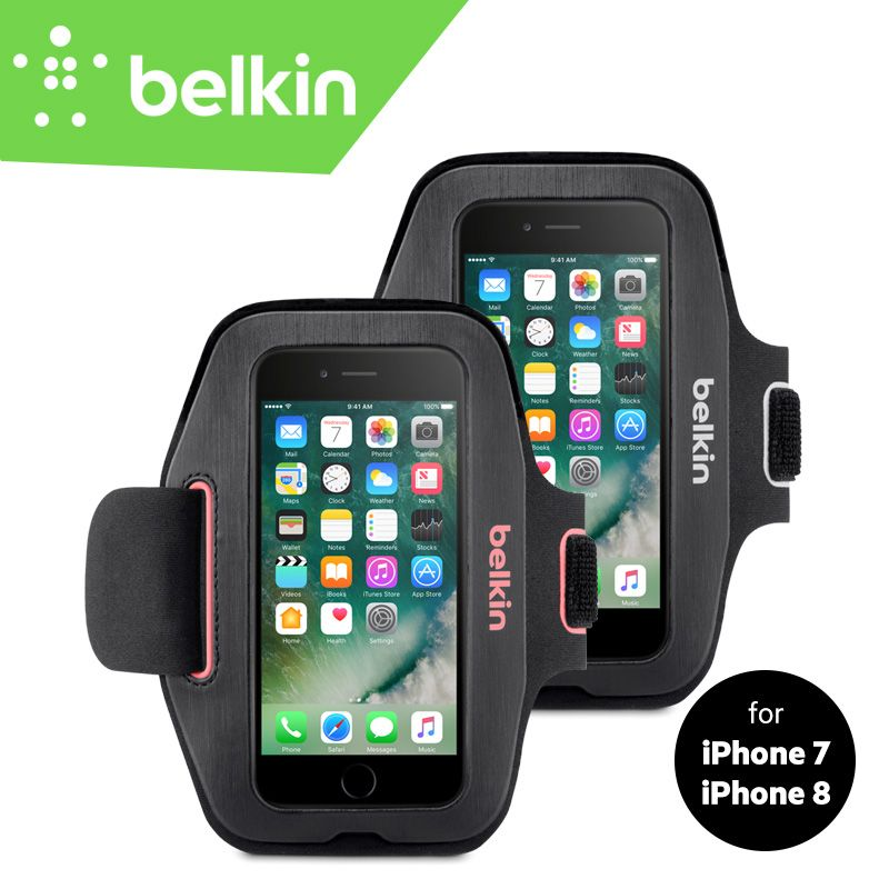 Belkin Original Sport-Fit Jogging GYM Armband Bag Hand-washable Case for iPhone 8/7 4.7