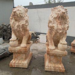 Set In Stone Gate Dekorasi Lion Patung Gaya Eropa Patung Singa