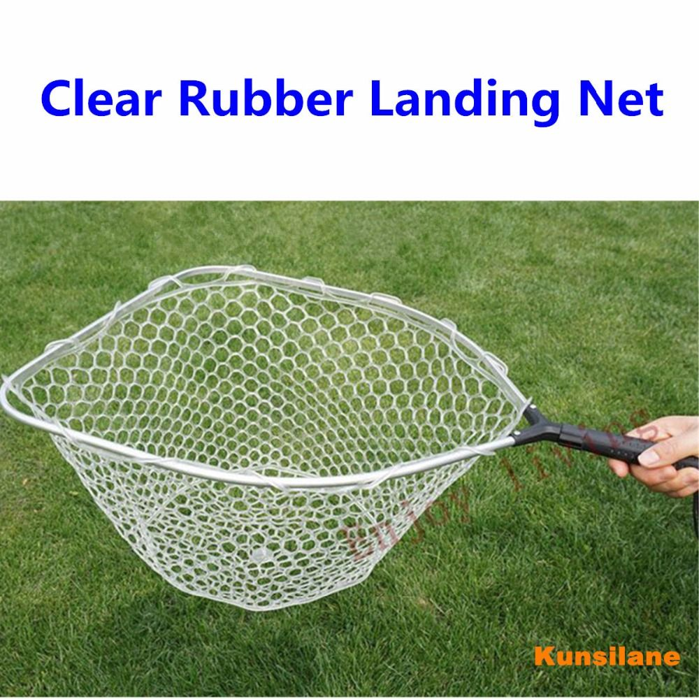 Rubber Mesh Landing Net with Removable / Replaceable Handle Kayak Hand Net