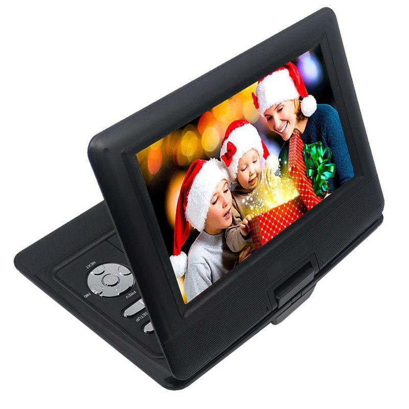 LONPOO 10.1 pouces lecteur DVD Portable TFT LCD écran lecteur DVD multimédia avec chargeur de voiture et fonction de jeu support DVD/CD/MP3