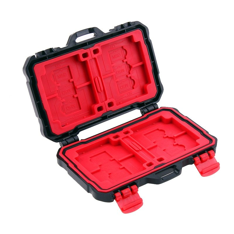 Memory Card Case Holder for 4 CF 8 SD Card SDXC MSPD XD 12 TF T-Flash Storage Box Protector Case