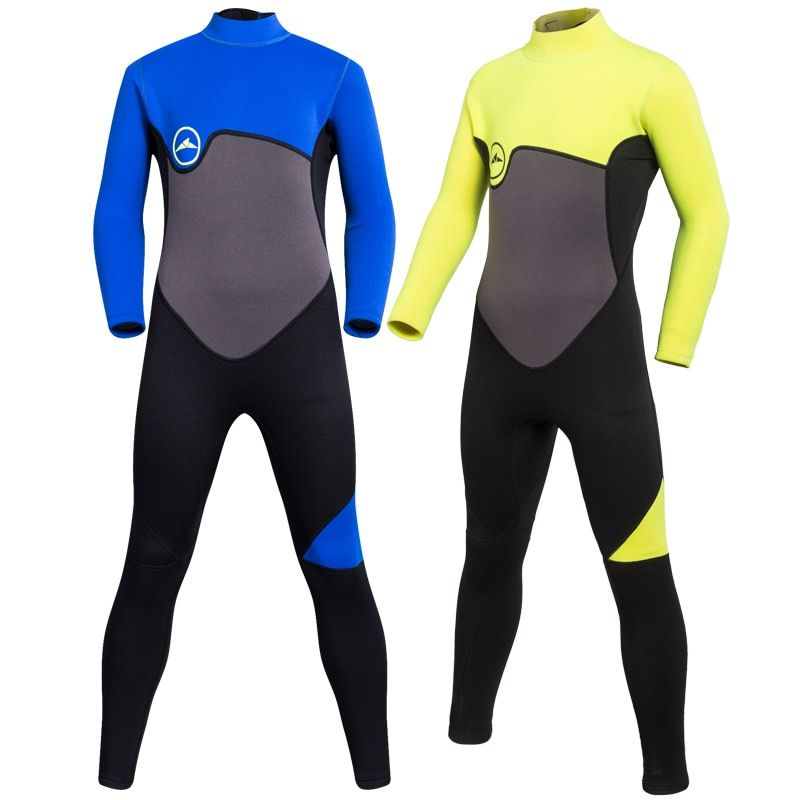 SBART Kids Swimwear Boys 2MM Neoprene Wetsuit For Swimming Suit Kids Rash Guard Long Sleeve One Piece Wet Suit Winter Swimwer