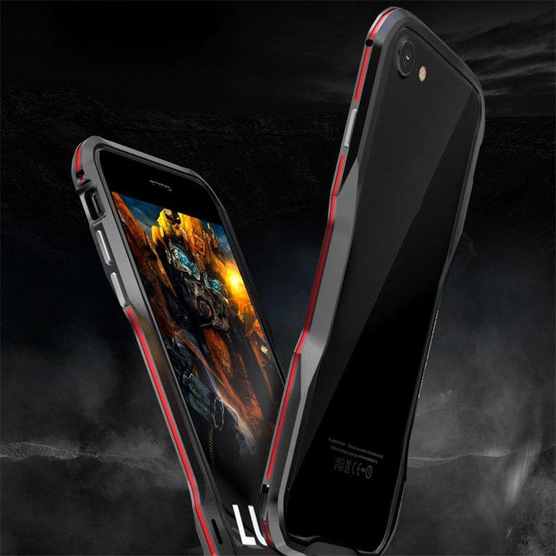 Luphie Pour Iphone 8 Plus Cas Bicolor Aluminium Métal Téléphone Pare-chocs Cas Pour iphone8 Plus Bumper Cadre Armure Protéger Téléphone Shell