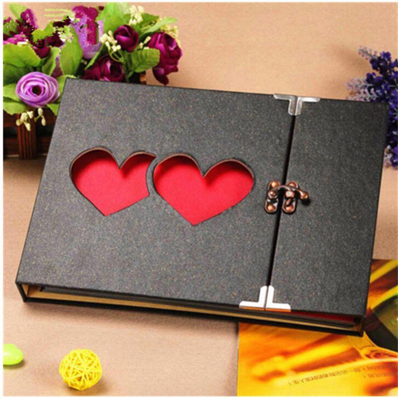 Nouveau 10 pouces BRICOLAGE Album Photo Amateurs D'anniversaire Cadeau De Mariage Photos Bébé Photo Ablum Album Papier Artisanat Polaroid Albums Collant