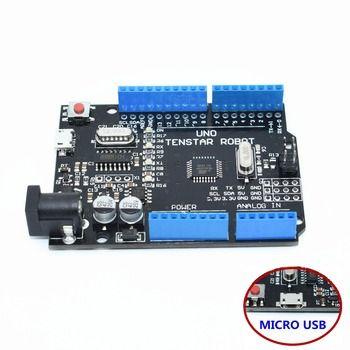 Un ensemble TENSTAR ROBOT UNO R3 CH340G + MEGA328P Puce 16 Mhz pour arduino UNO R3 noir/rouge