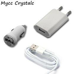New USB UE Plug Mur AC Chargeur Pour iPhone 8 Broches Câble de Recharge USB + Chargeur de voiture Adaptateur Pour Apple iPhone 5 5S 5c SE 6 6 s 7 Plus
