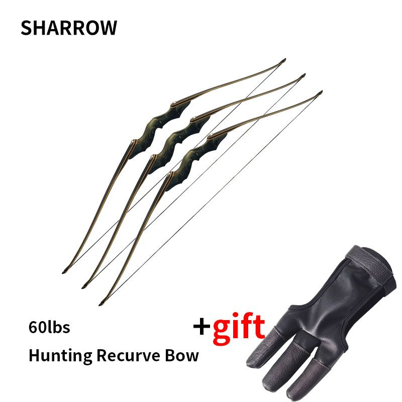 60 inch Hunting Recurve Bow Right Hand Composite Materials Draw Weight 60lbs Archery Bow Composite Bow Handle arco e flecha