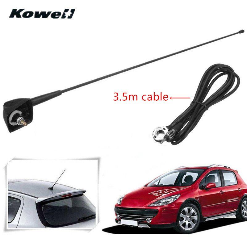 Авто крыша Радио Телевизионные антенны FM/AM усилитель сигнала Усилители домашние Антенны для автомобиля Whip мачты для Peugeot 106 205 206 306 307 309 405 406 ...