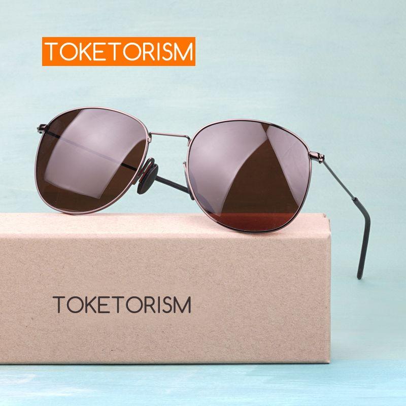 Toketorism rétro polarisé hommes femmes lunettes de soleil marque designer anti-éblouissement uv400 lunettes pilotes 0506