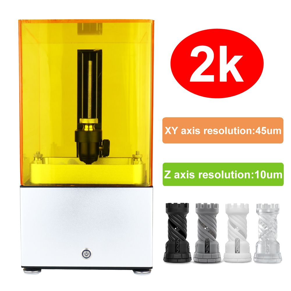 2018 new 3d printer 2K Jewelry No.1 SLA/DLP/LCD 3d printer with high resolution Suitable for jewelry dentistry christmas
