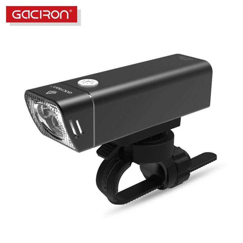 Gaciron Bicycle Headlight Built-in 2500mAH Battery USB Charge 600 Lumens 9 hours Runtime Side Visible Cycling Front Lighting