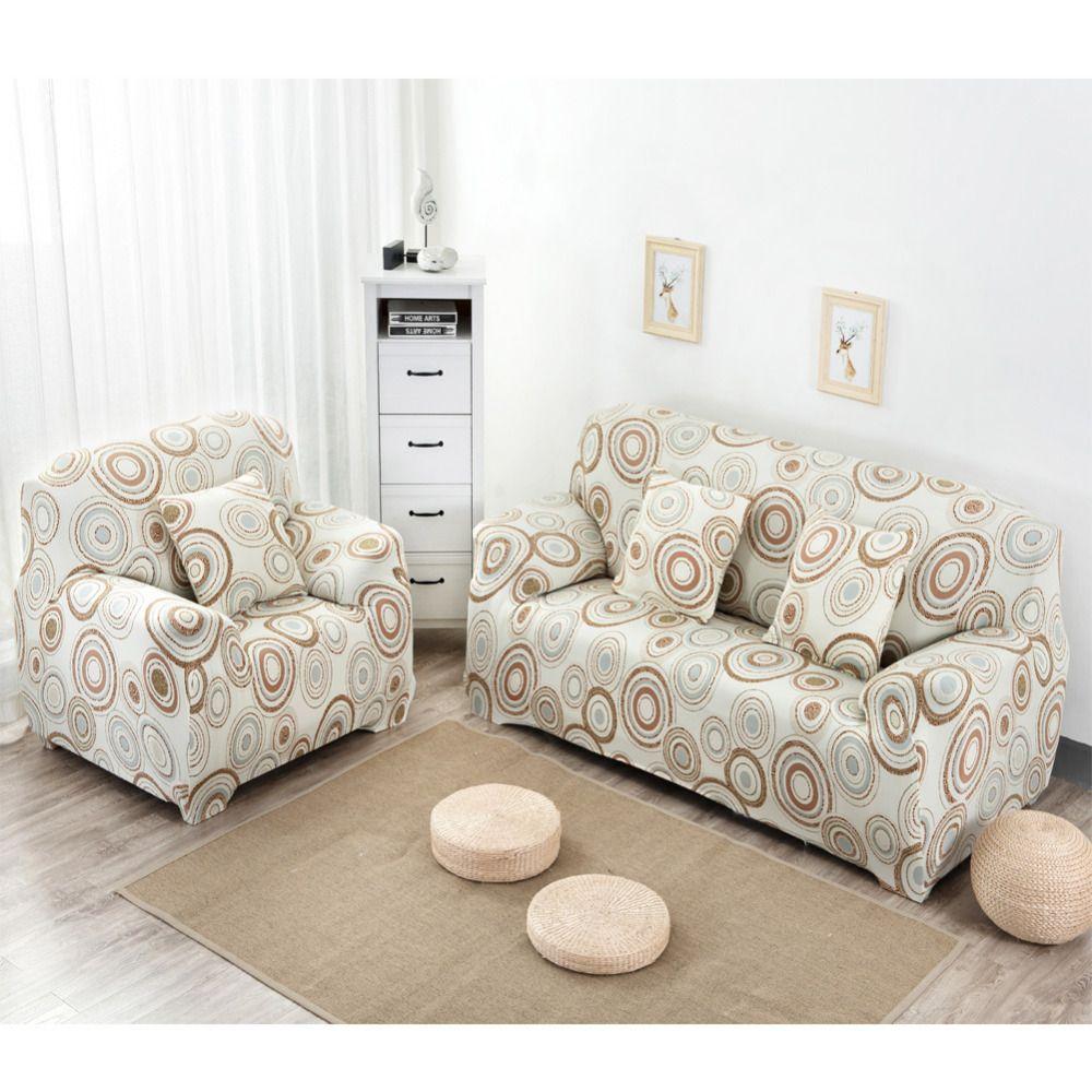 Полоса круг Чехлы для диванов Tight Обёрточная бумага скольжения Чехлы для мангала все включено