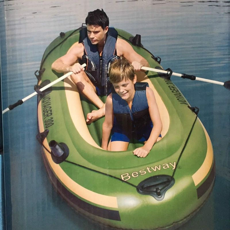 200 Kg 255 * 117 Cm Thick And 98 S, Three 3 PVC Inflatable Fishing Boats Sends With Kayak Paddle Repair Package