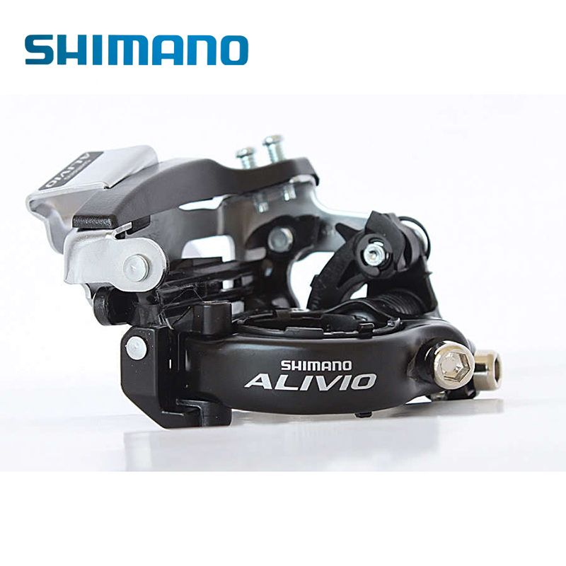 SHIMANO Alivio FD-M412 Triple & 7/8 <font><b>Speed</b></font> Drivetrains Mountain Bike Bicycle Parts Cycling Front Derailleur 31.8/34.9mm Top Swing