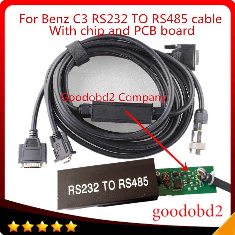For Mb Star C3 Multiplexer OBD2 Cable Connector RS232 to RS485 Cable Car Diagnostic Tools Cables Connect MB STAR C3 to computer
