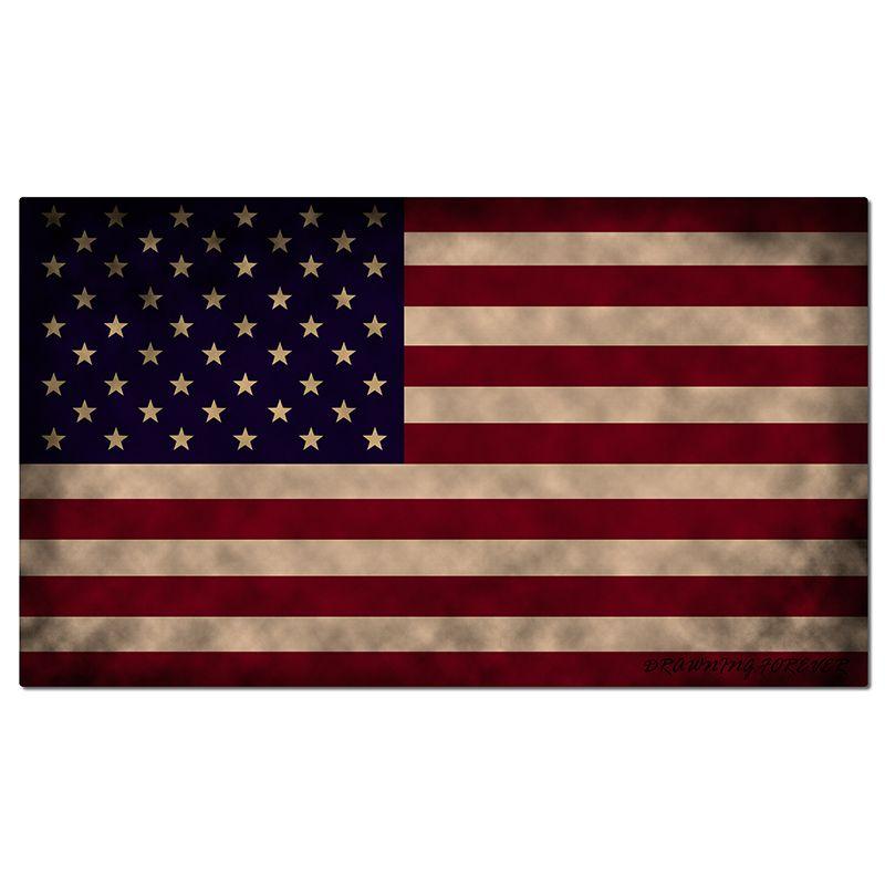 Vintage American Flag Mat Funny Door Indoor/Outdoor/Front Door Mats Non Slip Rubber Mat for Home Non-woven Fabric Top 24x36 Inch