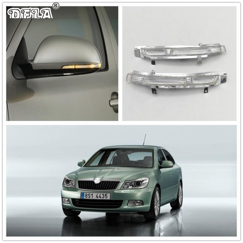 LED Mirror Light For Skoda Octavia A6 2009 2010 2011 2012 2013 Car-Stying Rear Mirror LED Turn Signal Indicator Light Lamp