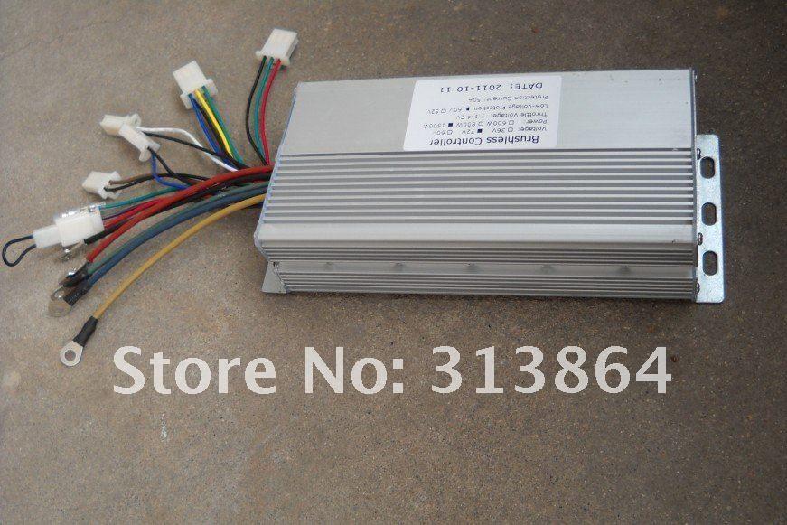 Freies Verschiffen 15 Mosfets 48 V 1000 Watt 35A Dual modus Sensor/Sensorlose BLDC Elektrische Fahrrad/Roller Controller