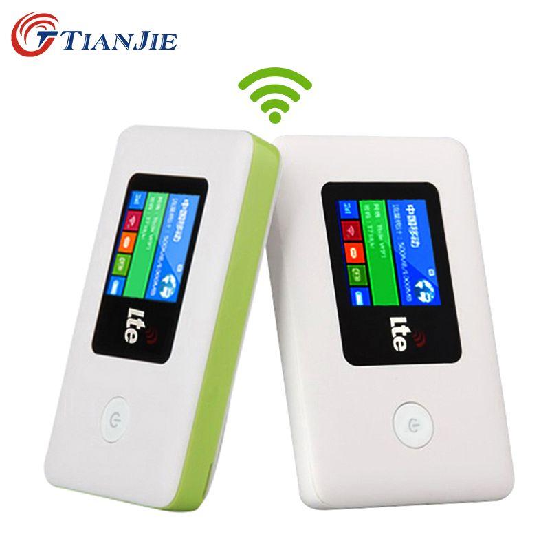 TIANJIE 4G WIFI routeur Mobile WiFi LTE EDGE HSPA GPRS GSM partenaire de voyage sans fil de poche routeur Wi-Fi Mobile avec fente pour carte SIM