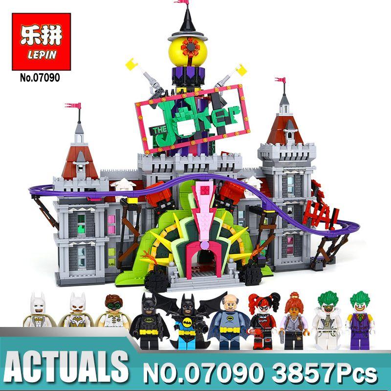 Hot Lepin 07090 Super Hero The Joker`s Manor Set Compatible Legoing 70922 Model Building Blocks Bricks Toys for Block Fans Gift