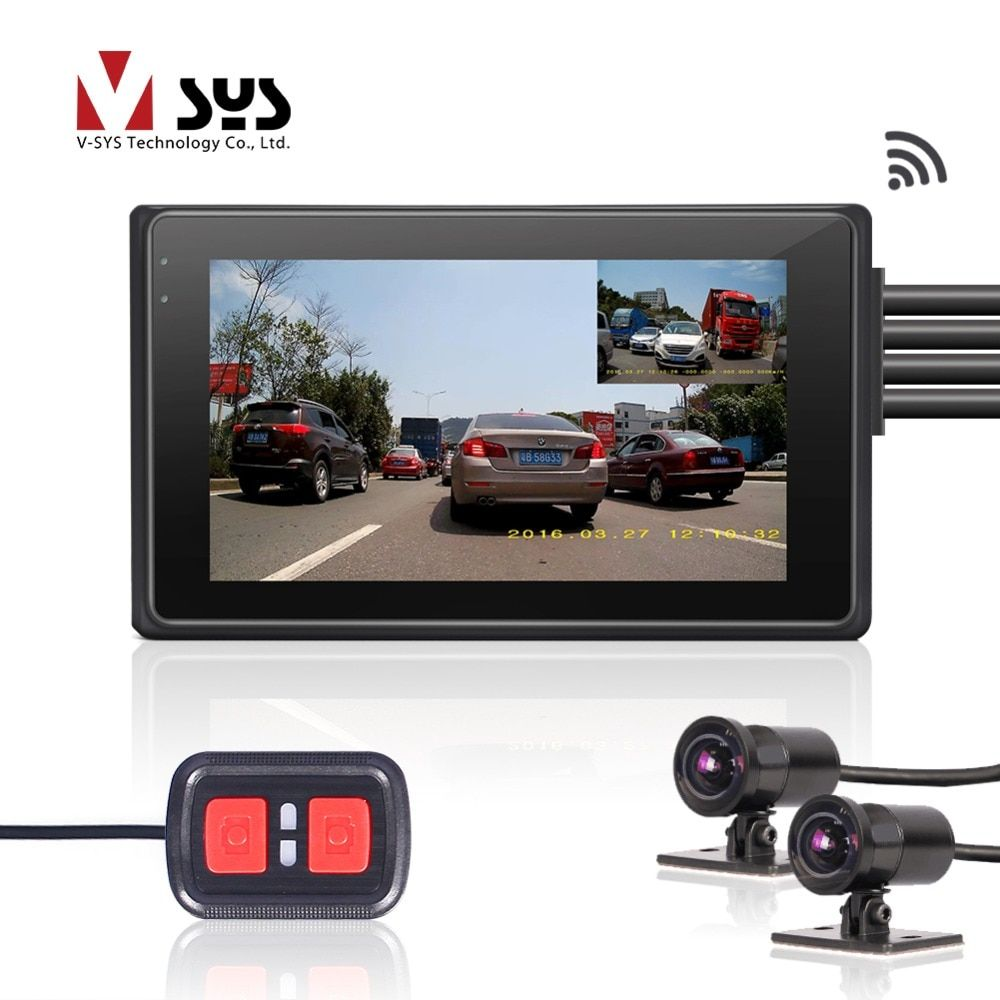 SYS VSYS 2CH Motorcycle Dash Cam WiFi DVR 1080P SONY IMX323 170 Degree Wide Angle Fish Eye Lens Motorbike Camera Recorder