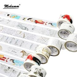 Kreatif Lurus Siswa Seri Dekoratif Pita Perekat Masking Washi Tape Diy Scrapbooking Stiker Label Kawaii Stationery