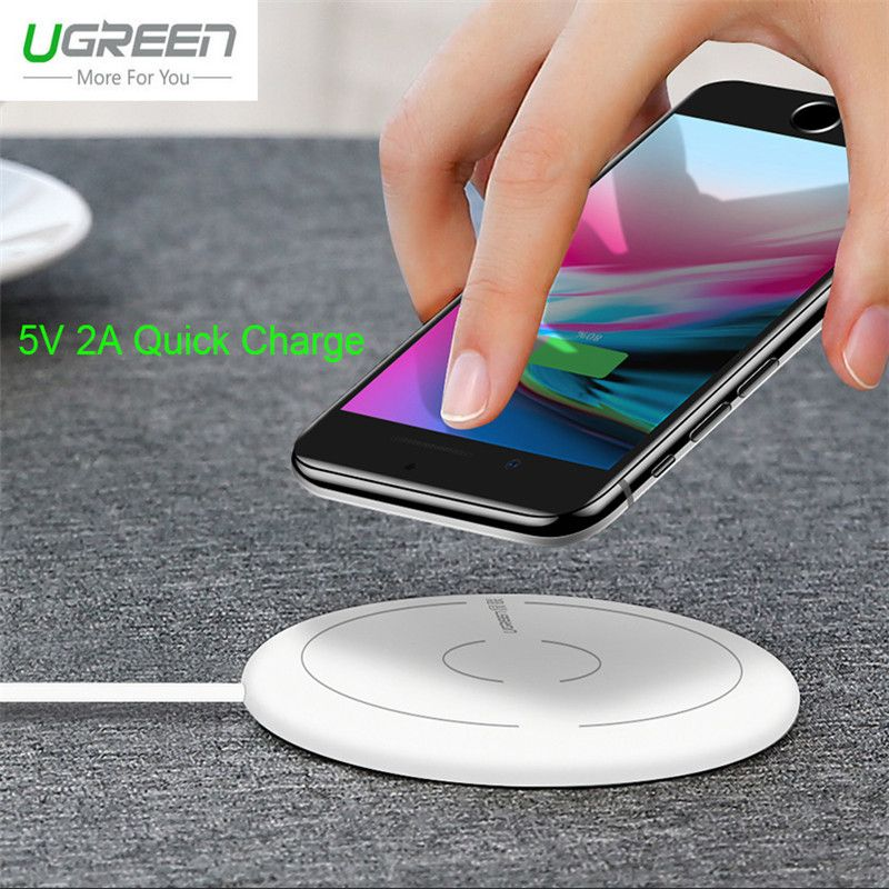 Ugreen 5V 2A Quick Charge Qi Wireless Charger For iPhone X 8 Plus Fast Charging Pad Adapter For Samsung Galaxy S8 S7 S6 Edge S8+