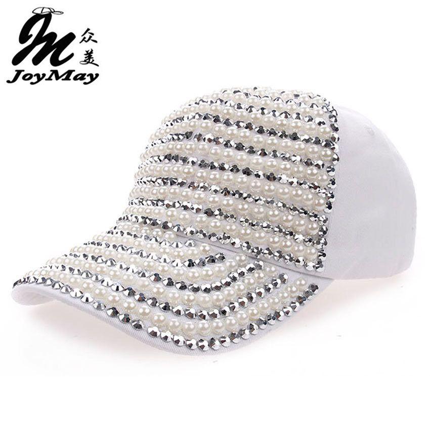 High quality Wholesale Retail JoyMay Hat Cap Fashion Leisure  Rhinestones Vintage Cotton CAPS Baseball Cap B109