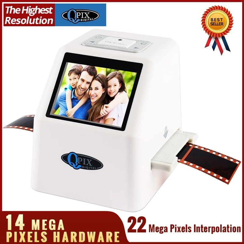 High Resolution 22 MP 110 135 126KPK Super 8 Negative Photo Scanner 35mm Slide Film Scanner Digital Film Converter 2.4