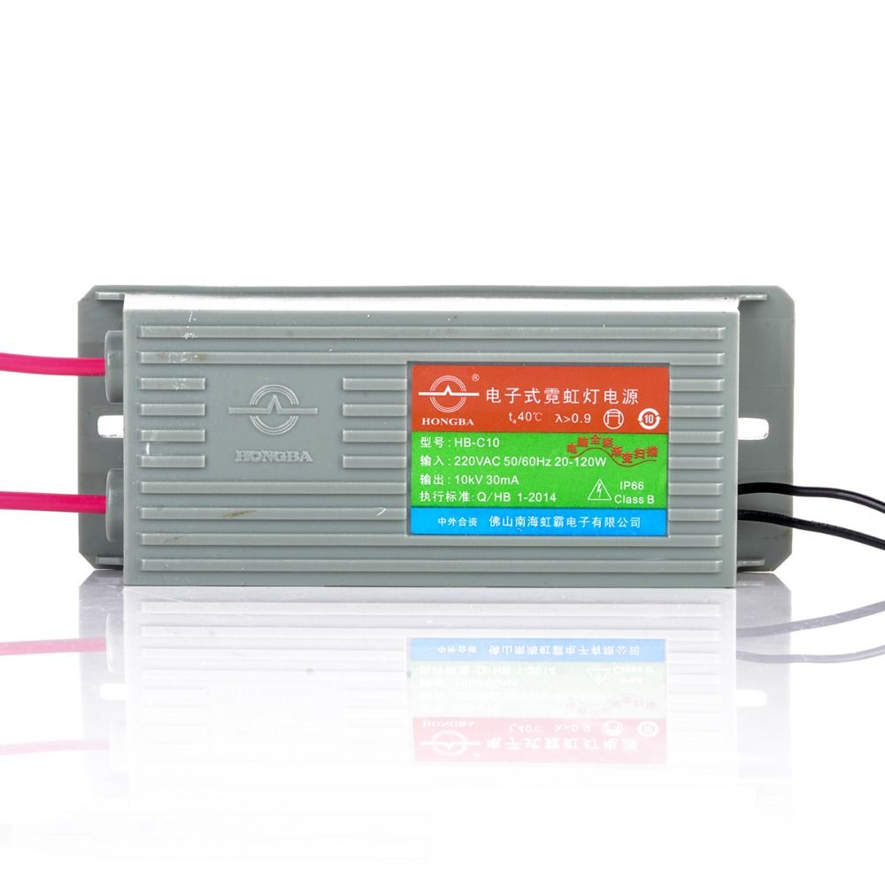 1pc Electronic Neon Transformer HB-C10 10KV Neon Power Supply Rectifier 30mA 20-120W