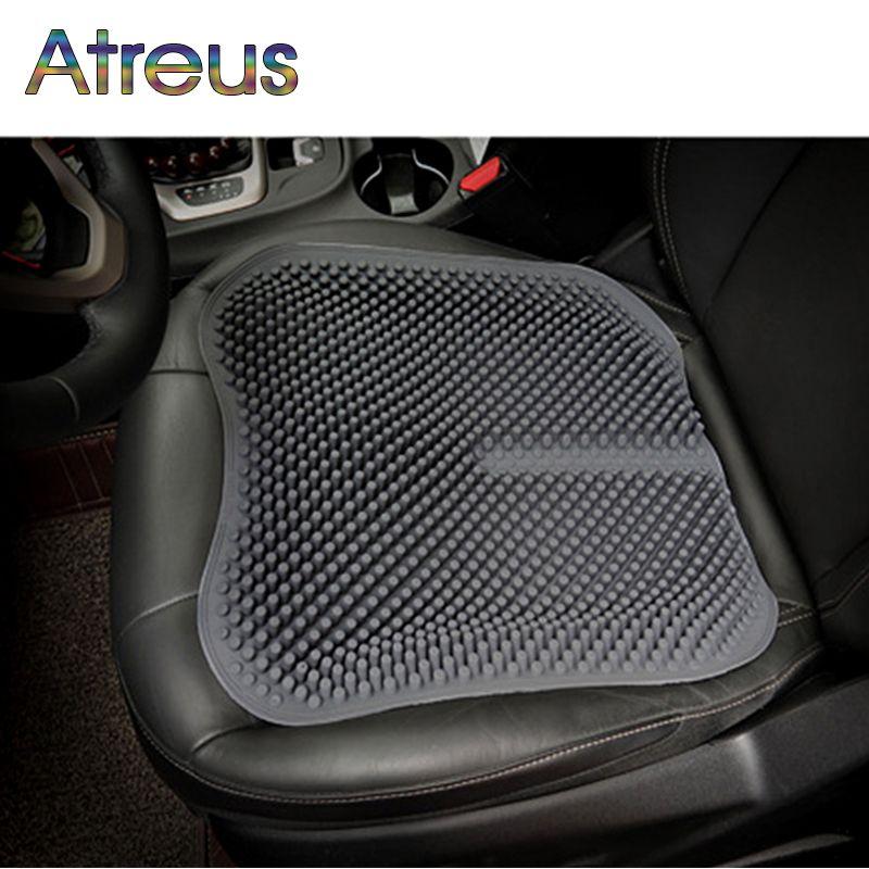 Atreus Silicone massage cushion Car Seat Cover For Mitsubishi ASX Outlander Lancer 10 I200 Peugeot 208 406 2008 5008 Lifan X60