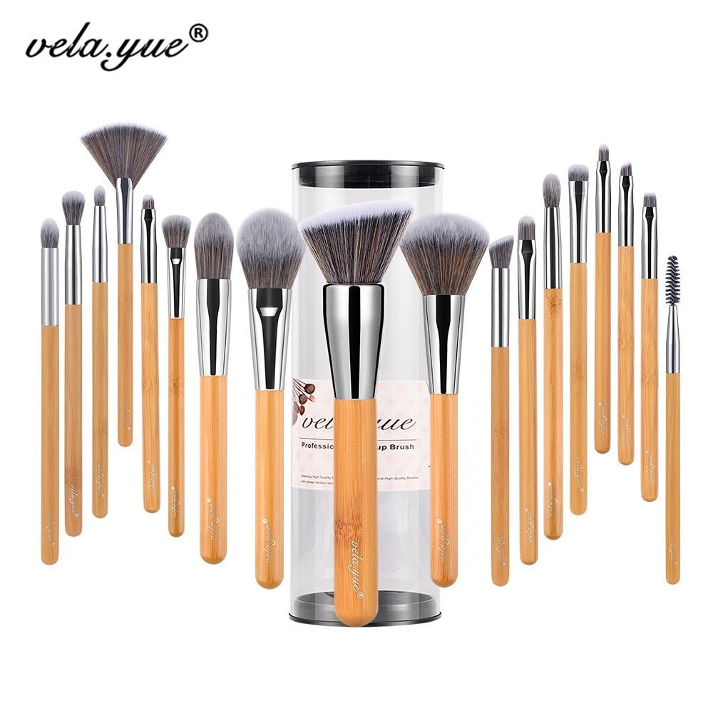 Vela. yue Make-Up Pinsel Set 18/10/5 stücke Volle Funktion Powder Foundation Rouge Bronzer eyeliner Schatten Stirn Lip glanz Schönheit Werkzeug