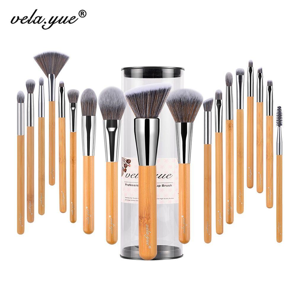 Vela. yue Maquillage Brosse Ensemble 18/10/5 pcs Pleine Fonction Poudre Fondation Blush Bronzer eyeliner Ombre Brow Lèvres brillant Beauté Outil
