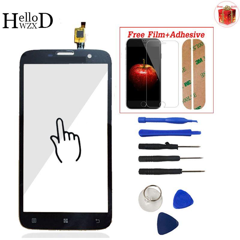 Für Lenovo A850 A850 + Plus Touch Screen Glas Digitizer Panel Frontglas Objektiv Sensor Werkzeuge Kleber + Displayschutzfolie geschenk