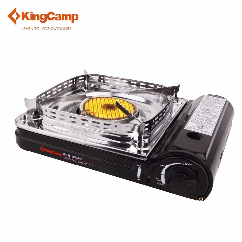 KingCamp Super Windproof Outdoor Camping Equipment Gas Stove Ceramic Gas Stove with Carrying Case Butane Stove