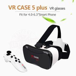 Лидер продаж Google Cardboard VR чехол 5 плюс PK Bobovr Z4, VR коробка 2,0 VR виртуальной реальности 3D очки Беспроводной Bluetooth Мышь/геймпад