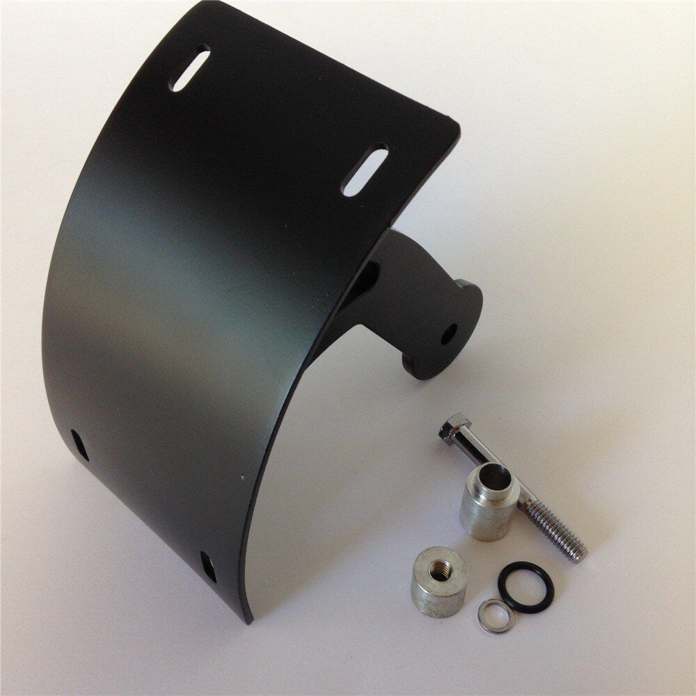 Aftermarket free shipping Motorcycle Black Vertical Curved Mount License Plate Bracket Tag Holder For 2006-2013 Suzuki Boulevard