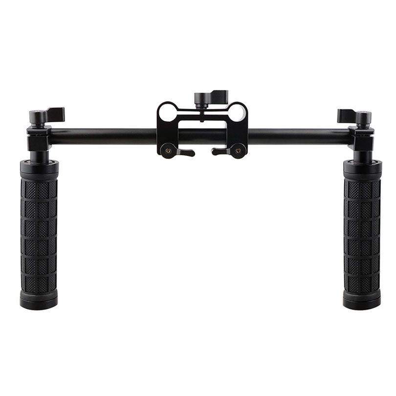 CAMVATE poignée de caméra poignée 15mm tige pince Support système de Rail DSLR épaule plate-forme Studio Photo accessoires C1049