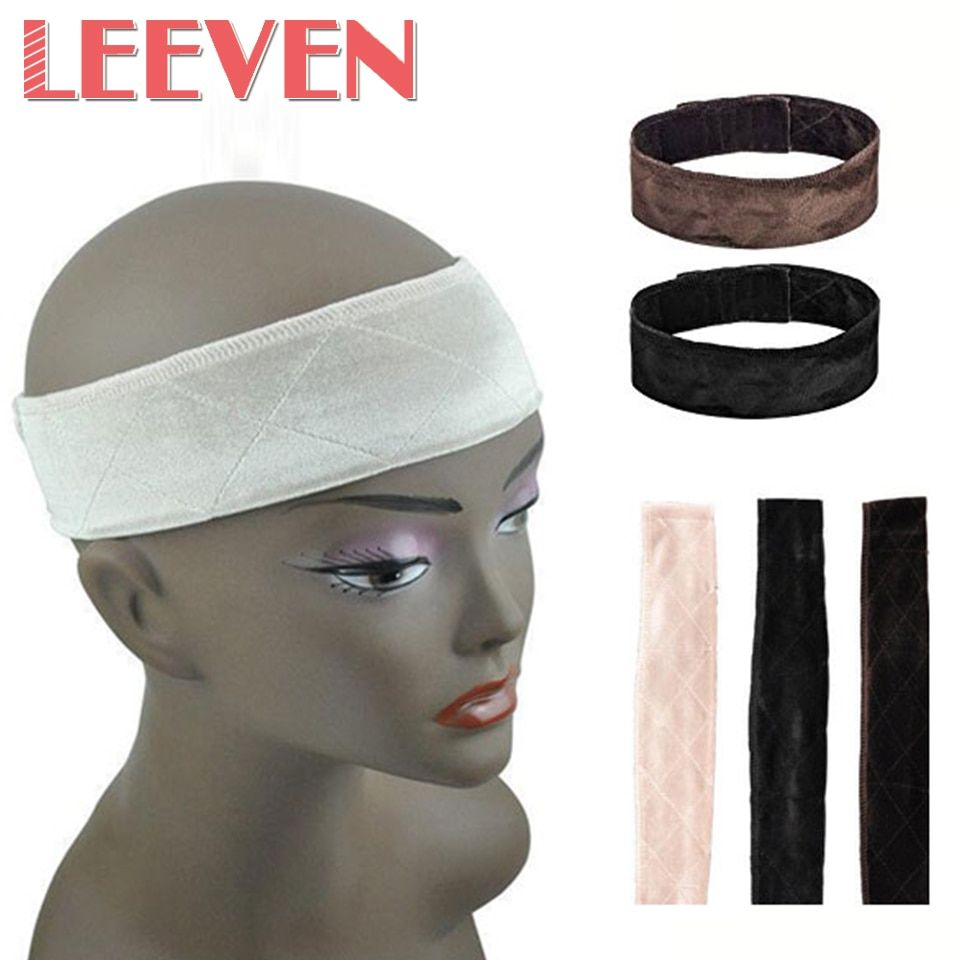Leeven Velvet Fabric Hairband Casual Fashion Fixed Wig Grip 25g/Pc 3 colors Adjustable Velvet Wig Grips Hair Band With Broadband