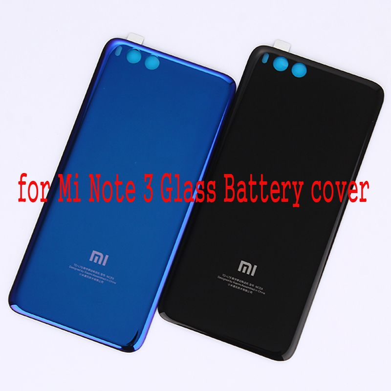 For Xiaomi Mi Note 3 Glass Battery Cover Door Housing Cover Replacement Repair Spare Parts 3M Glue for Mi Note3 Back cover