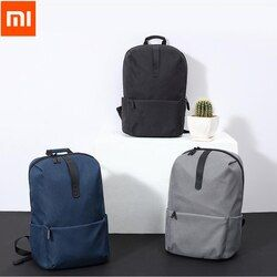 2017 Original Xiaomi Fashion School Bag Backapck 600D Polyester Durable Waterproof Outdoor Suit For 15.6 Inch Laptop Computer
