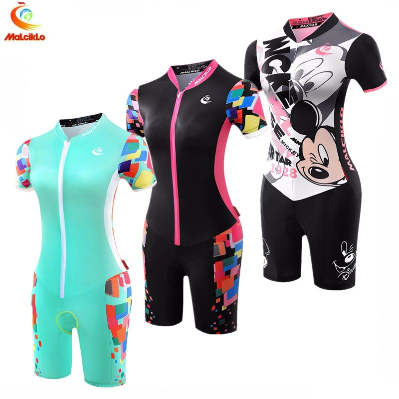 Women Short Sleeve Jumpsuit 2017 Pro Taem Triathlon Suit Ropa Ciclismo Maillot Cycling Jerseys Skinsuit Bike Clothing