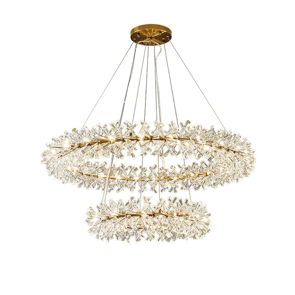 Ring design moderne kristall kronleuchter AC110V 220 V lustre LED kronleuchter wohnzimmer beleuchtung und hotel lichter