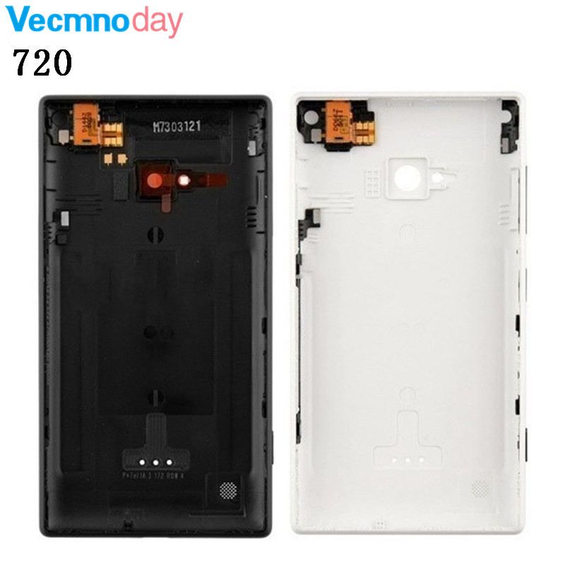 Vecmnoday 100% Original New Housing Battery Back Cover Door Replacement for Nokia Lumia 720 Lumia720 Back Cover Door