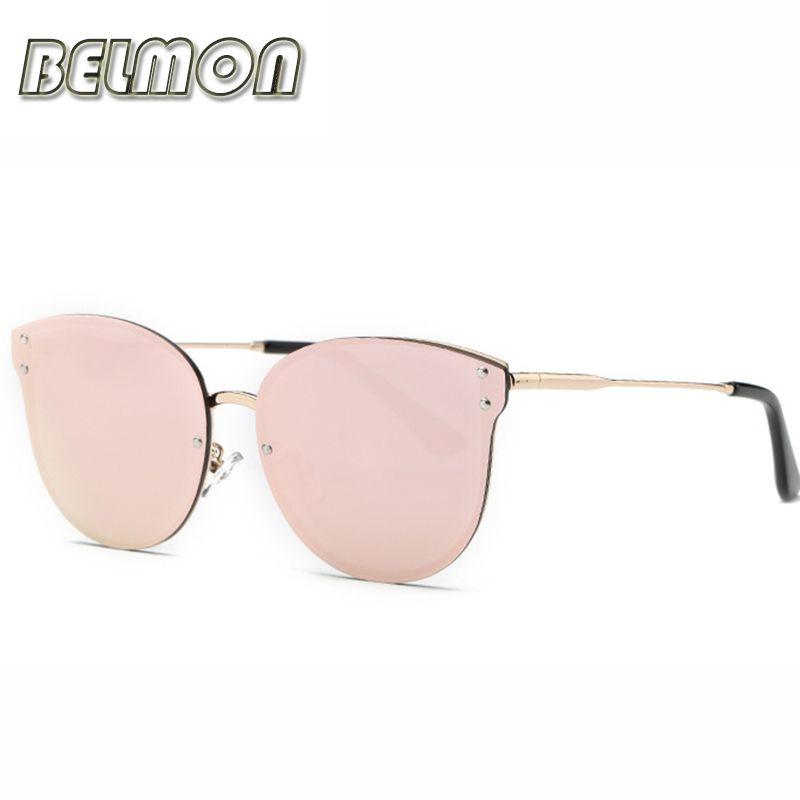 Fashion Sunglasses Women Brand Designer Sun Glasses For Ladies Rose Gold Eyewear UV400 Mirror <font><b>Lens</b></font> Female Oculos RS075