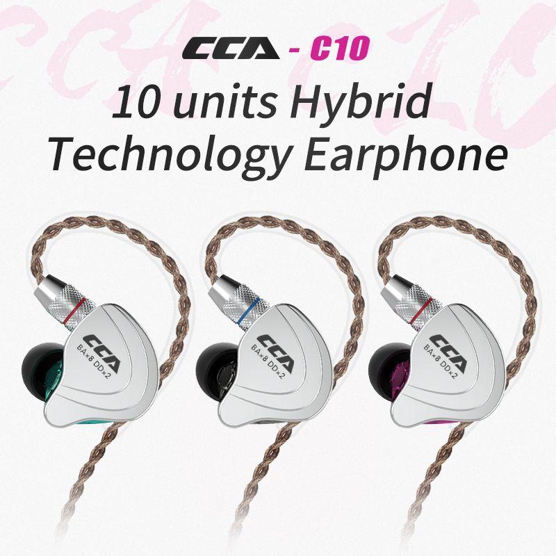 CCA C10 4BA + 1DD Hybrid In Ohr Kopfhörer HIFI DJ Monitor Laufen Sport Kopfhörer Headset Ohrhörer Mit Detacable Verbesserte kabel
